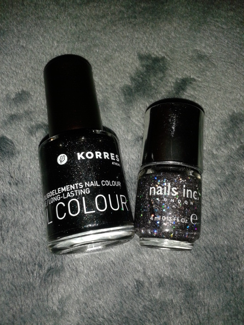 Korres Metallic Black with Nails Inc. glitter
