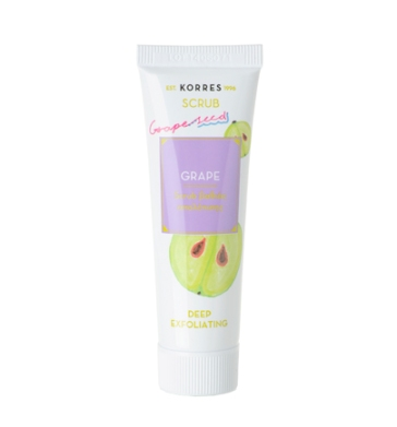 Korres face scrub with grape seed